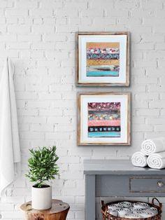 Modern Coastal, Coastal Art, Scotland Landscape, Original Paintings, Original Art, Grey Skies, Using Acrylic Paint, Small Art, Beach Themes