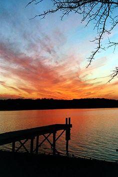 Cirrus clouds at sunset.