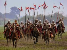 Polish-Lithuanian Heavy Winged Hussars. Gniew, Poland.