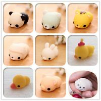 2016 Mochi Soft Animal Squeeze Stretch Compress Squishy Decompression Toys Art
