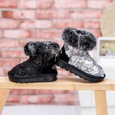 Online Shop 2015 Fashion Winter Warm Thicken Bling Fur Baby Boys Girls Snow  Boots Brand New Girls Sequin Boots 86402b19d4dd