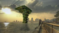"""The """"Sea Trees"""" could provide sanctuary for birds, bees, bats, and small aquatic creatures."""