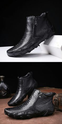 4d8f16056d796 US $38.4 <Click to buy> Prelesty Winter Men Boots Vintage English Style  Real Leather