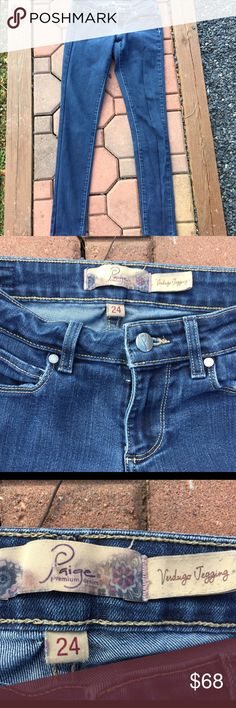 "Paige Verdugo Skinny Jegging Jean Size 24 Size 24. 73% cotton. 27% elastane. Inseam: 29"". Super gently preowned. Be sure to view the other items in our closet. We offer both women's and Mens items in a variety of sizes. Bundle and save!! Thank you for viewing our item!! Paige Jeans Pants"