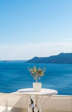 Enjoy a breathtaking view of Santorini caldera from your perch at the Canaves Oia Hotel