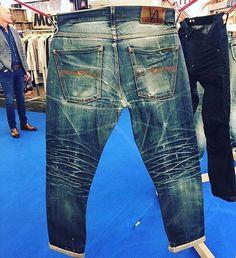 "Reposting @robindenim: ... ""Nicely worn in Nudie Jeans. Worn by @antony_tb  via @longjohn_denimblog""  Denim jeans indigo selvedge"