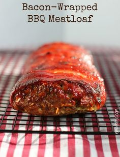 Bacon Wrapped BBQ Meatloaf - just 238 calories or 6 Weight Watchers SmartPoints per serving. Low carb and delicious! www.emilybites.com