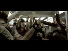 AWESOME video with a ton of energy. I want to rock out in a crowded subway car! (Rise Against - Give It All)