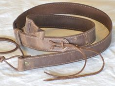 ukulele strap by hbojorquez on Etsy Ukulele Straps, Leather Guitar Straps, Distressed Leather, Leather And Lace, Look Older, Buy And Sell, Belt, Handmade, Stuff To Buy