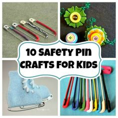 10 Super Fun Safety Pin Crafts for Kids