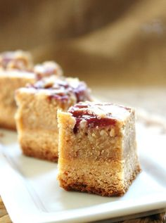 Peanut Butter and Jelly Cheesecake Bites
