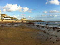 Ventnor Beach in Ventnor, Isle of Wight - St Catherine's Down & Lighthouse