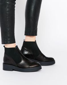 ASOS+AIRLOCK+Leather+Chelsea+Boots