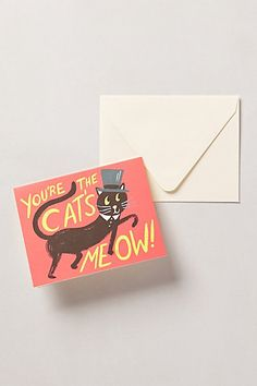 Cat's Meow Card  #anthropologie