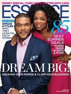 Oprah and Tyler Perry Grace the Cover of Essence Magazine - June 2013