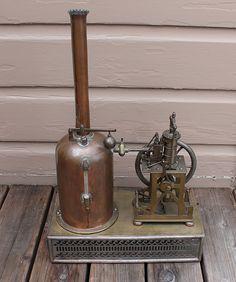 Antique Vintage Salesman Sample Vertical Live Steam Engine Boiler Steam Plant | eBay