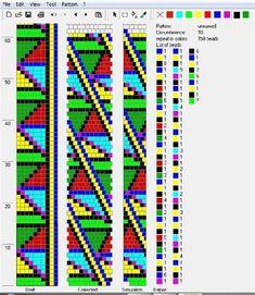 10 around tubular bead crochet rope pattern