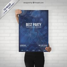 party-poster-mockup-with-a-guitar_23-292935534.jpg (626×626)