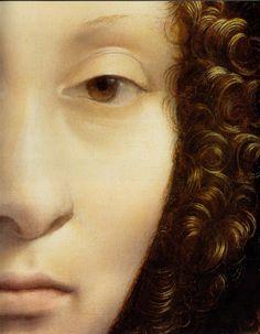 Leonardo da Vinci (Italian, 1452-1519) Ginevra de'Benci (Detail)