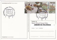 Sobrescrito circulado com carimbo 1.º dia da série de selos Apicultura - Açores. Selo de taxa 0,80€ referente à série Apicultura - Continente colocado em circulação a 23 de Setembro de 2013