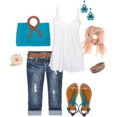 Turquoise & White Fresh & Clean