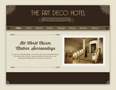 Afbeeldingsresultaat voor art deco style webdesign