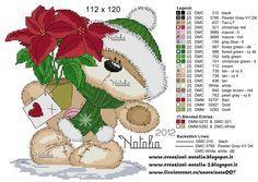 Cross-stitch Fizzy Moon Christmas, part 1... the color chart... Cross stitch *<3* Point de croix Noël