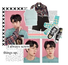 """Lucky One - Sehun"" by haruno-hikari ❤ liked on Polyvore featuring American Eagle Outfitters and Victoria's Secret"
