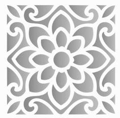 Stencils Mandala, Stencil Patterns, Stencil Printing, Stencil Art, Cut Out Canvas, Canvas Art, Paper Art, Paper Crafts, Diy Crafts