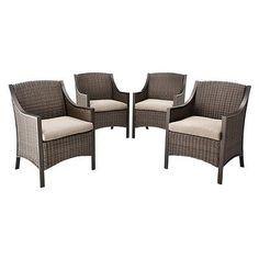 Threshold™ Casetta 4-Piece Wicker Patio Dining Chair Set. Deal Price: $366.74. List Price: $488.99. Visit http://dealtodeals.com/threshold-casetta-piece-wicker-patio-dining-chair-set/d20081/patio-lawn-garden/c87/