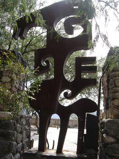 Reja lateral del Museo de la Pacha Mama en Amaicha del Valle, Valles Calchaquíes, Tucumán, Argentina