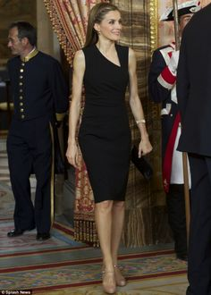Royal LBD: Princess Letizia dressed in an elegant black dress to receive members of Prince of Asturias Awards Patronage with her husband