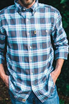5819179a664 Sierra Plaid Fairbanks Flannel Shirt How To Wear Denim Jacket