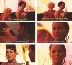 Johanna Mason is awesome! And of course Katniss lol