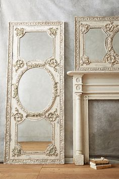 Rococo Mirror #anthropologie (this would make awesome walking closet door)