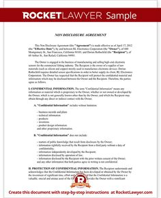 Sample Non Disclosure Agreement Form Template Resume Templates