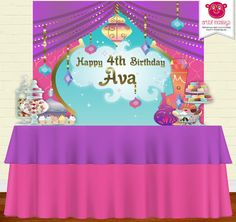 Shimmer and Shine Backdrop | Party Banner | Poster | Signage | Personalised | Printable Backdrop | Birthday Backdrop