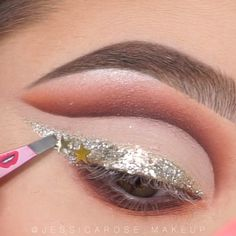 Glam Eye Make-Up Tutorials! – Ines Glam Eye Make-Up Tutorials! Eye Makeup Glitter, Eye Makeup Art, Glam Makeup, Makeup Geek, Makeup Inspo, Eyeshadow Makeup, Bridal Makeup, Wedding Makeup, Beauty Makeup