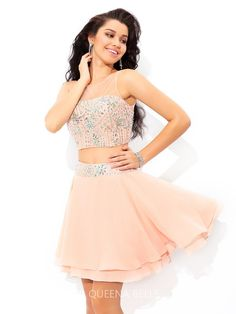 a1aa372e35 2016 New Styles from  QueenaBelle Short Beading Chiffon  Cocktail  Dresses.  . Up