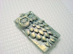 Clay Owl PEndant | Silver and Gold Handmade Polymer Clay Owl Pendant by PennysLane