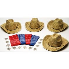 Adult Western Party Kit for 12 - Party Kits - Amols' Fiesta Party Supplies