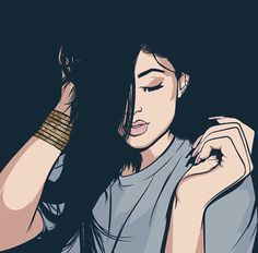 COOL ASS DRAWING OF KYLIE JENNER