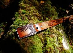 Custom Leather Belt Tree Belt Living In The Forest by artonleather