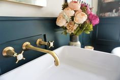 Details from our ensuite. Full reveal here www.comedowntothewoods.com/blog