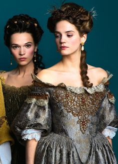 Anna Brewster and Elisa Lasowski in Versailles - 2015 Historical Costume, Historical Clothing, Historical Romance, Versailles Tv Series, Versailles Bbc, 17th Century Fashion, 18th Century, Marquise, Fantasy Dress