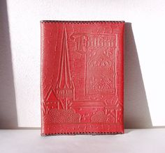 Leather Book Cover Vintage Unused Brown Large by MerilinsRetro