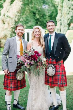 How To Be the Best Best Man Ever! | Bridal Musings Wedding Blog | Groom and Best Man in Kilts