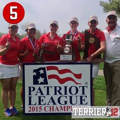 Coming in at No. 5 in this year's #Terrier12 is @bu_golf winning the program's first-ever Patriot League Championship!
