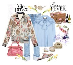 """private wardrobe peek- my ""hello? Spring? Anybody?"" me"" by juliabachmann ❤ liked on Polyvore featuring Tracy Reese, Tortoise, Gucci, Tom Ford and Miu Miu"