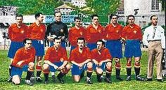 Spain team group at the 1934 World Cup Finals.